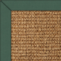 Coir Boucle Natural Rug with Bayberry Cotton border