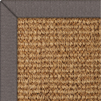 Coir Panama Natural Rug with Lead Linen border