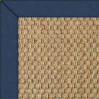 Seagrass Balmore Basketweave Rug with Marine Cotton border