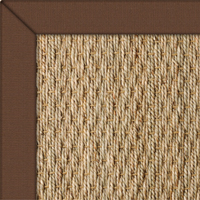 Seagrass Natural with Rug Conker Cotton border