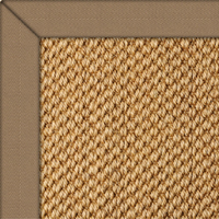 Sisal Malay Rug with Cotton Herringbone Mouse border