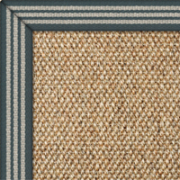 Sisal Panama Donegal Rug with Teal Strips border