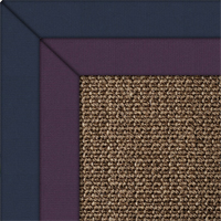 Sisal Super Boucle Rug with double cotton border