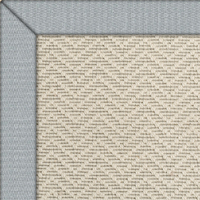 Wool Iconic Chevron Rug with Linen Stratus border