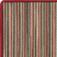 Wool Iconic Stripes Fitzgerld Rug with Whipped border