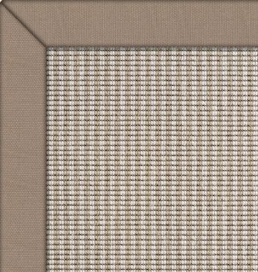 Wool Iconic Stripes Joplin Rug with Praline Cotton border
