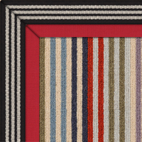 Wool Margo Selby Stripe Rug with double border